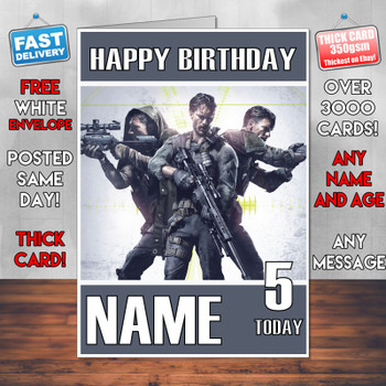 Sniper Ghost Recon 2017 Personalised Birthday Card