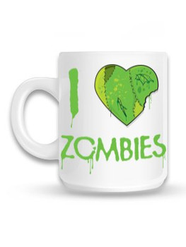 I Love Zombies Green Mug