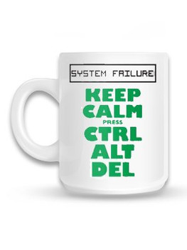 Keep Calm Ctrl Alt Delete Mug