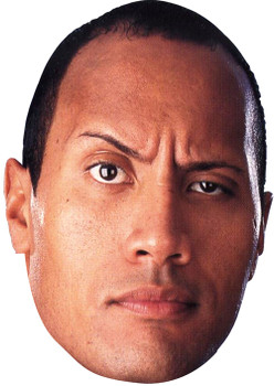 Dwayne Johnson Celebrity Face Mask