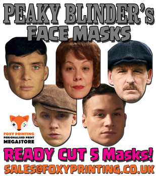 Peaky Blinders Facemasks PACK Tv Celebrity Face Mask