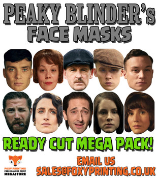 Peaky Blinders Facemasks MEGAPACK Tv Celebrity Face Mask