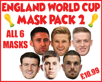 England Mask Pack 2 Football World Cup 2018 Face Mask Pack