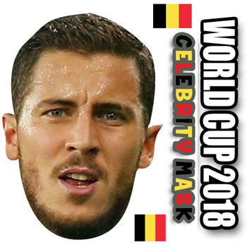 Eden Hazard Belgium Football World Cup 2018 Face Mask