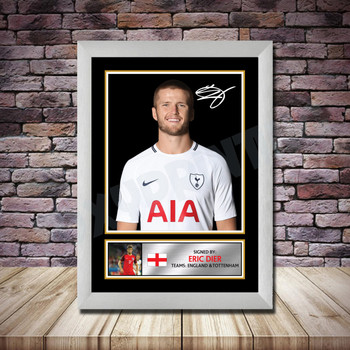 Personalised Signed Football Autograph print - Eric Dier -A4 A3 A2 A1 - Framed or Print Only
