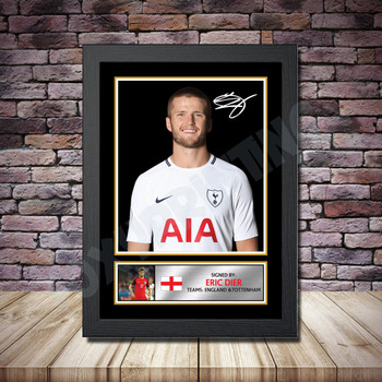 Personalised Signed Football Autograph print - Eric Dier Framed or Print Only