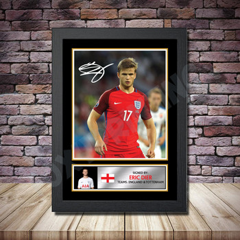 Personalised Signed Football Autograph print - Eric Dier 2 -A4 A3 A2 A1 - Framed or Print Only