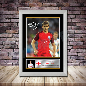 Personalised Signed Football Autograph print - Eric Dier 2 Framed or Print Only