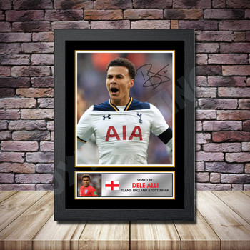 Personalised Signed Football Autograph print - Dele Alli Framed or Print Only
