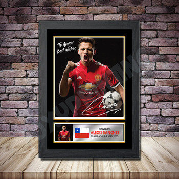 Personalised Signed Football Autograph print - Alexis Sanchez Framed or Print Only
