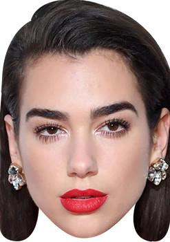 Dua Lipa Celebrity Music Star Face Mask