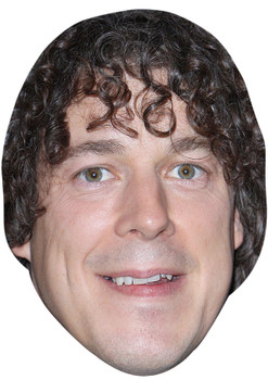 ALAN DAVIES JB - Funny Comedian Fancy Dress Cardboard Celebrity Face Mask
