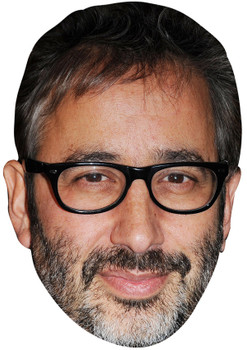 DAVID BADDIEL JB - Funny Comedian Fancy Dress Cardboard Celebrity Face Mask
