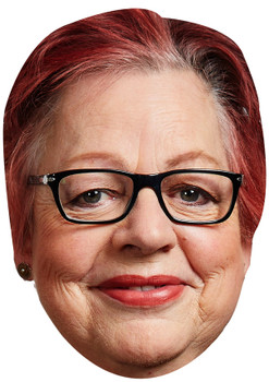 JO BRAND JB - Funny Comedian Fancy Dress Cardboard Celebrity Face Mask