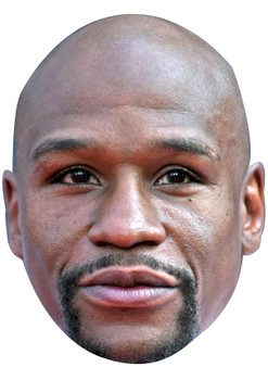 FLOYD MAYWEATHER JB - Boxing Fancy Dress Cardboard Celebrity Face Mask
