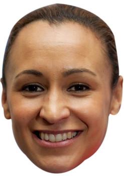 JESSICA ENNIS HILL FACE MASK JB - Athletics Fancy Dress Cardboard Celebrity Face Mask