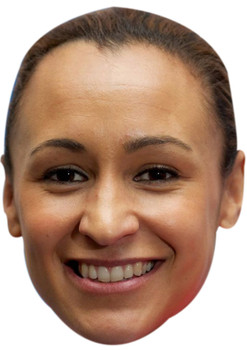JESSICA ENNIS HILL FACE MASK JB - Athletics Fancy Dress Cardboard Celebrity Face Mask