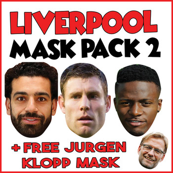 Liverpool Champions League Mask Pack 2 MOHAMED SALAH, JAMES MILNER, ORIGI, , KLOPP, MANE