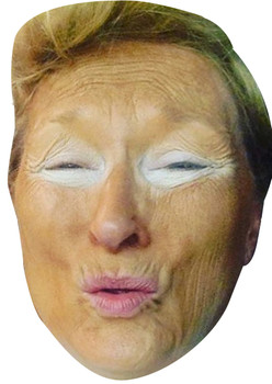 Meryl Streep as DONALD TRUMP Halloween Fancy Dress Cardboard Celebrity Face Mask