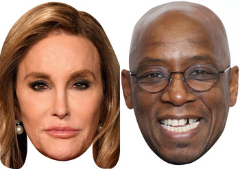 Caitlyn jenner & ian wright celebrity party face fancy dresss pack im a celebrity