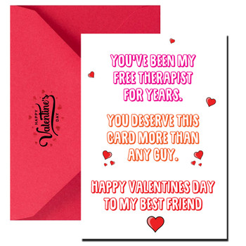 To  My Therapist and Best Friend Valentines Day Card