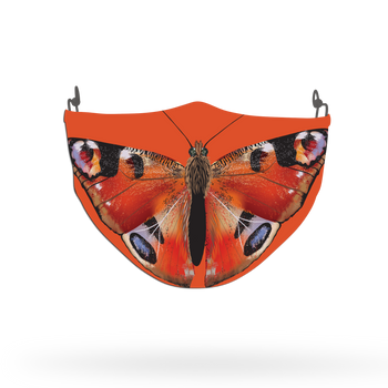 Orange Butterfly Animal Face Covering Print 2