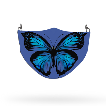 Blue Butterfly Animal Face Covering Print 3