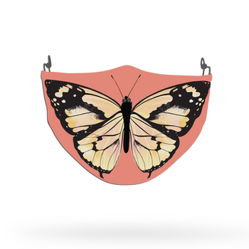 Pink Butterfly Animal Face Covering Print 4