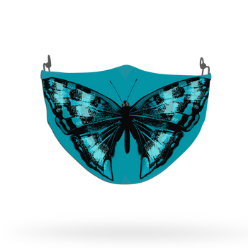 Blue Butterfly Animal Face Covering Print 5