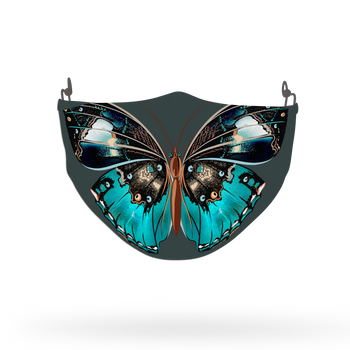 Blue Butterfly Animal Face Covering Print 6