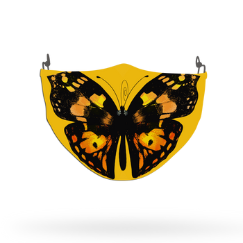 Yellow Butterfly Animal Face Covering Print 8
