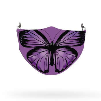 Purple Butterfly Animal Face Covering Print 10