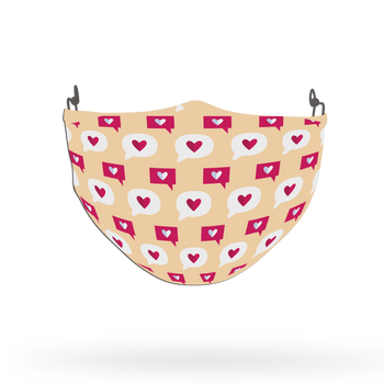 Pink Love Pattern Face Covering Print 5
