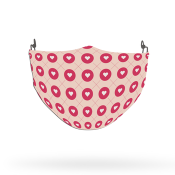 Pink Hearts Love Pattern Face Covering Print 14