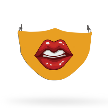 Sexy Lips Orange Face Covering Print 15