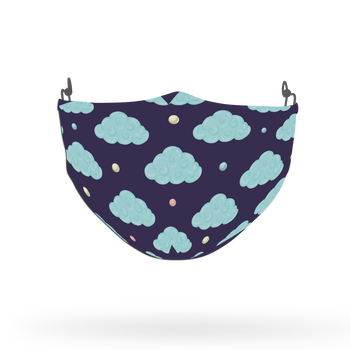Blue Unicorn Clouds Pattern Face Covering Print 8