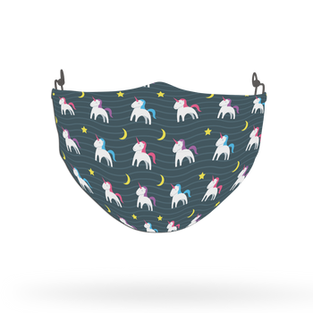 Navy Unicorn Pattern Face Covering Print 14