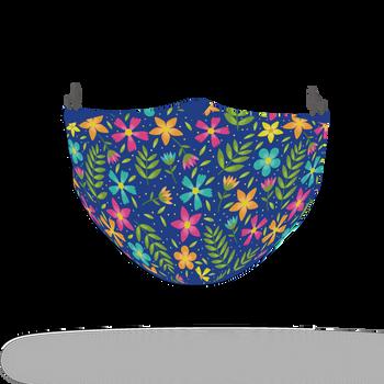 Floral Colour Motif Pattern Face Covering Print 1