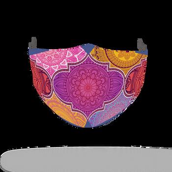 Floral Colour Motif Pattern Face Covering Print 2