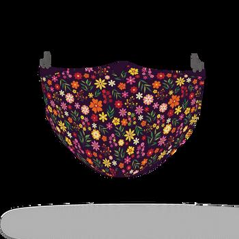 Floral Colour Motif Pattern Face Covering Print 4