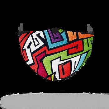 Multicoloured Graffiti Pattern Face Covering Print 4