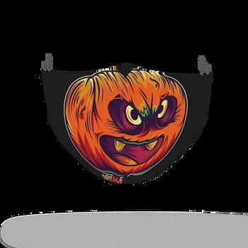 Horror Pumpkin Pattern Face Covering Print 1