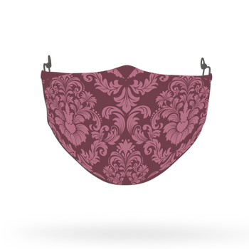 Pink Ornamental Pattern Face Covering Print 5