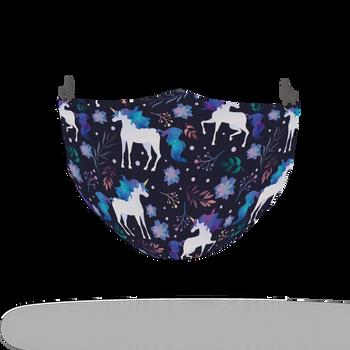 Purple Watercolour Unicorn Pattern Face Covering Print 3