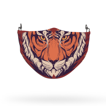 Wild Animal Tiger Face Pattern Face Covering Print 3