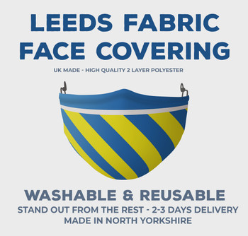 Inspired By Leeds United Football Colours Face Covering