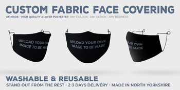 CUSTOMISE Your Own Face Covering - UPLOAD LOGO
