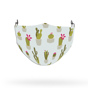 Cactus Pattern Theme Pattern Face Covering Print 2