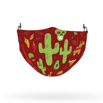 Cactus Pattern Theme Pattern Face Covering Print 5
