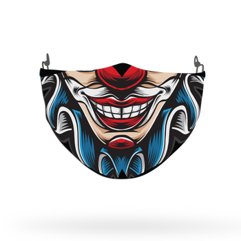 Clown Mask Theme Face Covering Print 3
